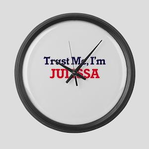 Trust Me, I'm Julissa Large Wall Clock