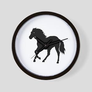 Go West Go Mustang Wall Clock