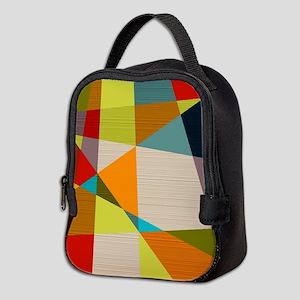 Mid Century Modern Geometric Neoprene Lunch Bag