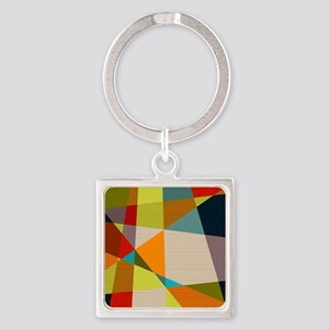 Mid Century Modern Geometric Keychains