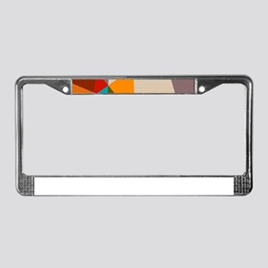 Mid Century Modern Geometric License Plate Frame