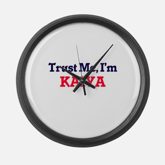 Trust Me, I'm Kaiya Large Wall Clock