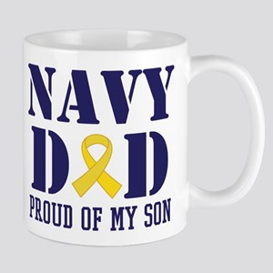 Navy Dad Proud Of Son Mugs
