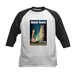 Miami Beach Art Deco Railway Print Baseball Jersey