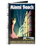 Miami Beach Art Deco Railway Print Journal