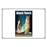Miami Beach Art Deco Railway Print Banner