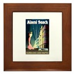 Miami Beach Art Deco Railway Print Framed Tile