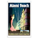 Miami Beach Art Deco Railway Print Poster