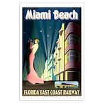 Miami Beach Art Deco Railway Print Poster