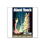 Miami Beach Art Deco Railway Print Sticker