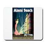 Miami Beach Art Deco Railway Print Mousepad