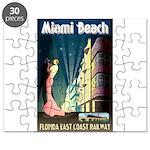 Miami Beach Art Deco Railway Print Puzzle