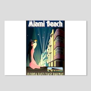 Miami Beach Art Deco Railway Print Postcards (Pack