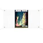 Miami Beach Art Deco Railway Print Banner
