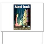 Miami Beach Art Deco Railway Print Yard Sign