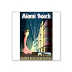 Miami Beach Art Deco Railway Print Sticker