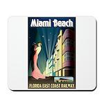 Miami Beach Art Deco Railway Print Mousepad