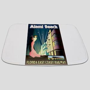 Miami Beach Art Deco Railway Print Bathmat