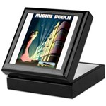 Miami Beach Art Deco Railway Print Keepsake Box