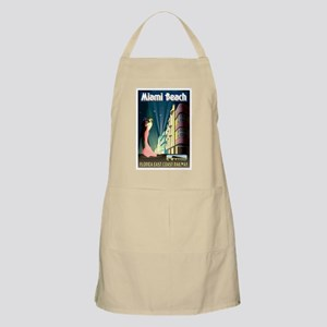 Miami Beach Art Deco Railway Print Apron