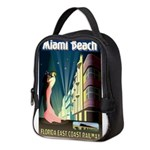 Miami Beach Art Deco Railway Print Neoprene Lunch