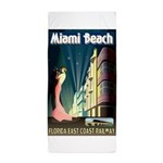 Miami Beach Art Deco Railway Print Beach Towel