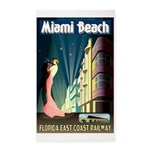 Miami Beach Art Deco Railway Print Area Rug