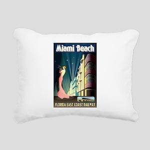 Miami Beach Art Deco Railway Print Rectangular Can