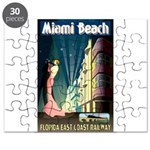 Miami Beach Art Deco Railway Print Puzzle