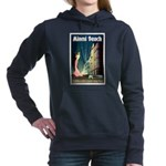 Miami Beach Art Deco Railway Print Women's Hooded