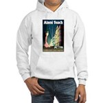 Miami Beach Art Deco Railway Print Hoodie Sweatshi