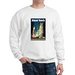 Miami Beach Art Deco Railway Print Sweater