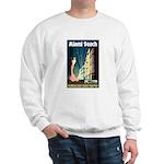 Miami Beach Art Deco Railway Print Sweater