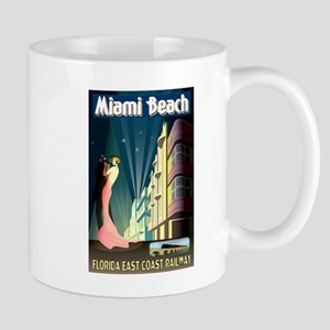 Miami Beach Art Deco Railway Print Mugs