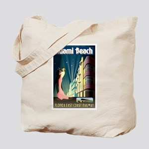 Miami Beach Art Deco Railway Print Tote Bag