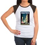 Miami Beach Art Deco Railway Print T-Shirt