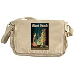 Miami Beach Art Deco Railway Print Messenger Bag