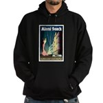 Miami Beach Art Deco Railway Print Hoodie