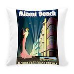 Miami Beach Art Deco Railway Print Everyday Pillow