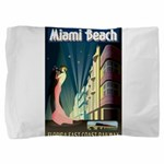 Miami Beach Art Deco Railway Print Pillow Sham
