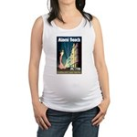 Miami Beach Art Deco Railway Print Maternity Tank