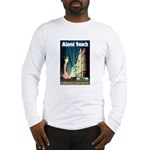 Miami Beach Art Deco Railway Print Long Sleeve T-S
