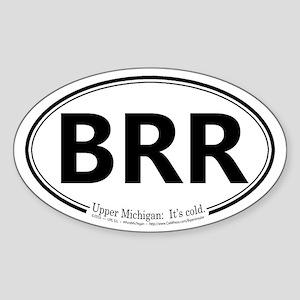 Brr Oval Sticker