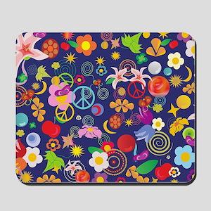 Boho floral Mousepad