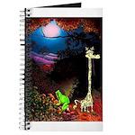 Giraffe and Frog Art Deco Abstract Fantasy Print J