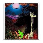Giraffe and Frog Art Deco Abstract Fantasy Print T