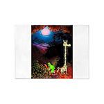 Giraffe and Frog Art Deco Abstract Fantasy Print 5