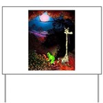 Giraffe and Frog Art Deco Abstract Fantasy Print Y