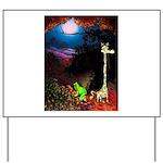 Giraffe and Frog Art Deco Abstract Fantasy Print Y