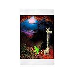 Giraffe and Frog Art Deco Abstract Fantasy Print A